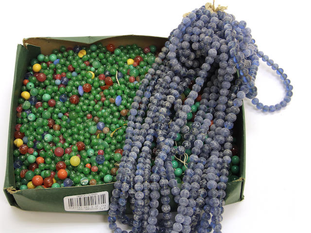 A large group of glass beads