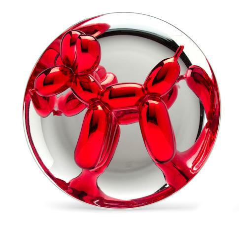 Jeff Koons (born 1955) Balloon Dog (Red), 1995 10 1/4in. (36.2cm) diameter