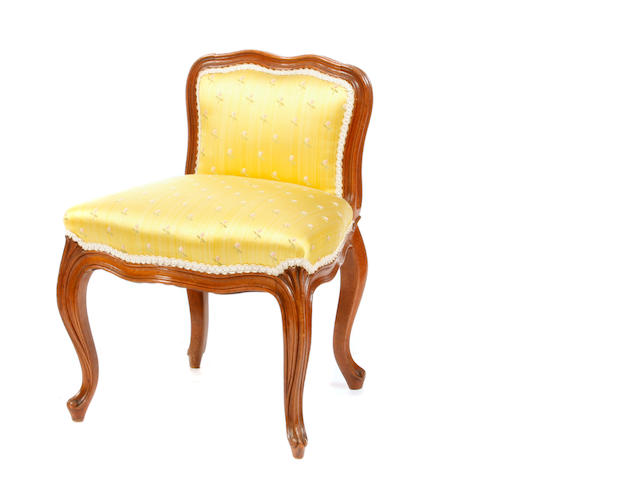 A Louis XV style beechwood child's chair