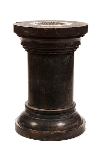 A Neoclassical style marble pedestal