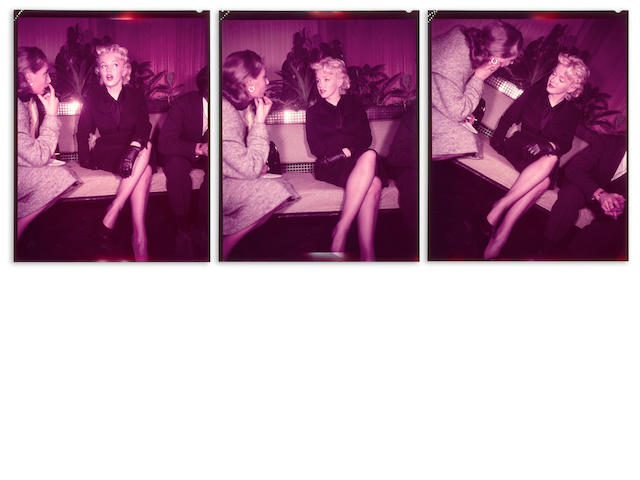A group of three Marilyn Monroe color negatives