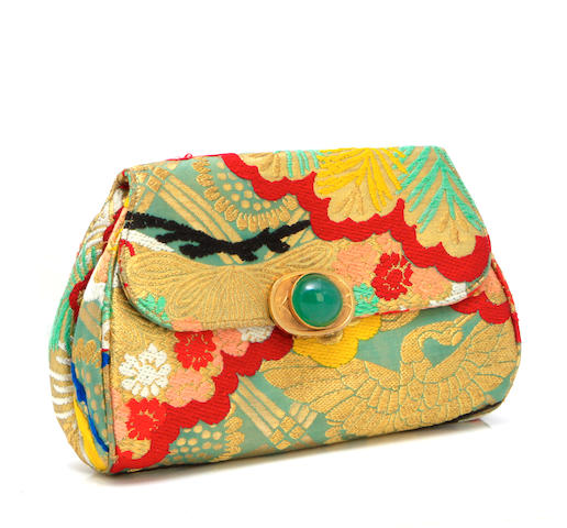 A Gumps of San Francisco obi brocade clutch