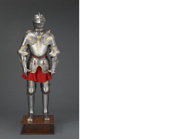 A fine 19th century full suit of armor in early 16th century style