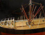 A builders' model of the S.S. Robert Dollar, of the Dollar Line