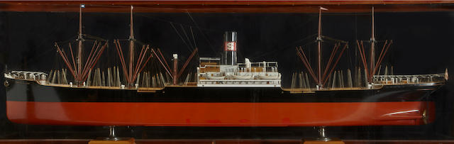 A builders' model of the S.S. Robert Dollar, of the Dollar Line  built by Rodger & Co circa 1920