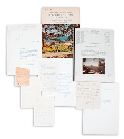 A Bing Crosby group of correspondence