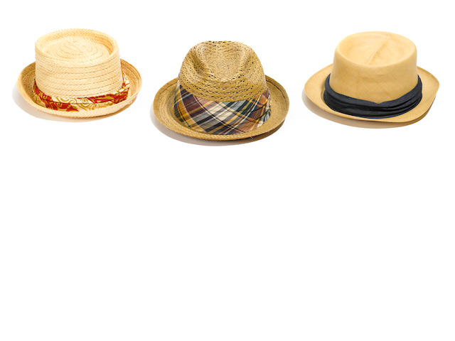 A Bing Crosby group of seven hats