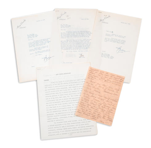 A Bing Crosby group of correspondence, 1934-1950
