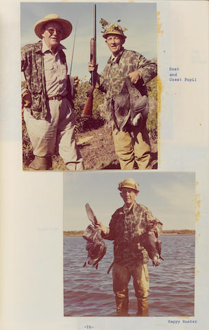 A Bing Crosby group of hunting and fishing items