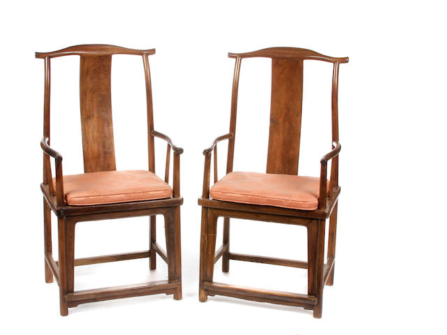 A pair of yokeback chairs