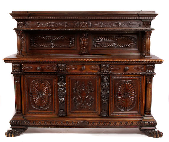 A Renaissance Revival walnut sideboard