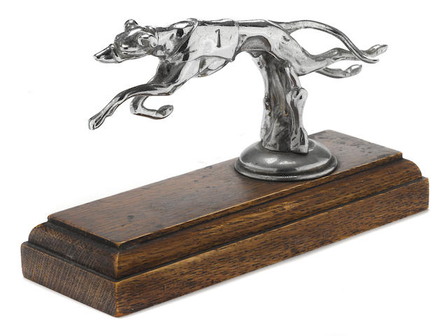 A 'Greyhound' mascot by Desmo, British, 1930's,
