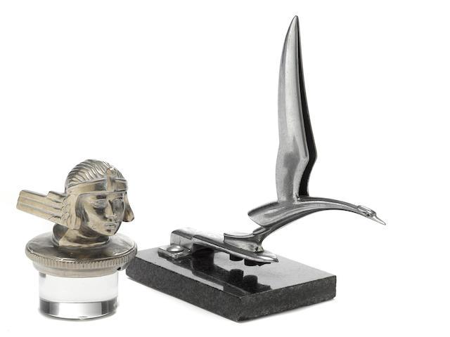 A styalised Heron mascot, c.1930's,