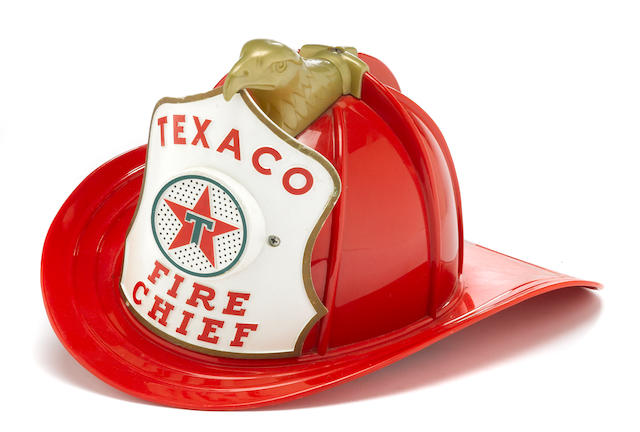 A Texaco Fire Chief kiddies helmet, c. 1950s,
