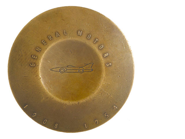 A Bronze GM Motorama commemorative medallian, 1954,
