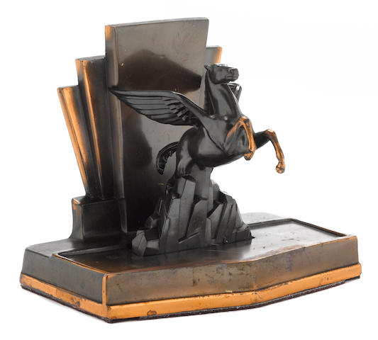 An Art Deco Mobil desk piece, c.1930s,
