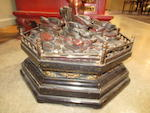 A pair of lacquered wood octagonal lantern stands Late Qing dynasty