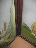 A hardwood framed lantern 20th century