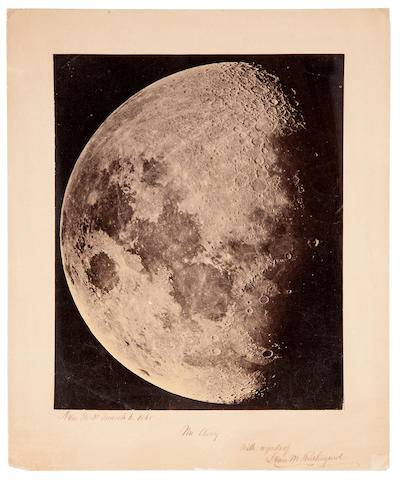 RUTHERFURD, LEWIS MORRIS. 1816-1892. A view of the Moon, from New York, March 6, 1865,
