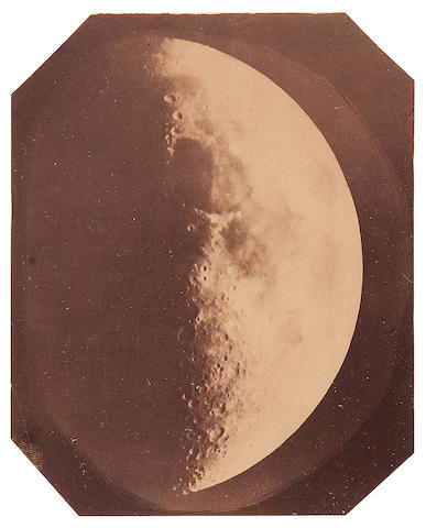 WHIPPLE, JOHN ADAMS. 1822-1891. A view of the Moon, from Harvard College Observatory, Cambridge, MA, c.1857,