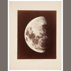 GREAT MELBOURNE TELESCOPE. Albumen print (250 x 200 mm) mounted, printed caption pasted below and with details added in manuscript,  Melbourne, Australia, September 1, 1873, framed.