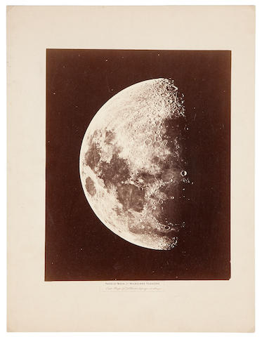 GREAT MELBOURNE TELESCOPE. A view of the Moon at 9 days, from Melbourne, Australia, September 1, 1873,