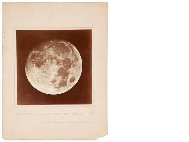 JUNIOR, CHRISTIANO. 1. Albumen print (180 x 180 mm) mounted, printed caption below, Observatorio Nacional Argentino, Cordoba, 1873.