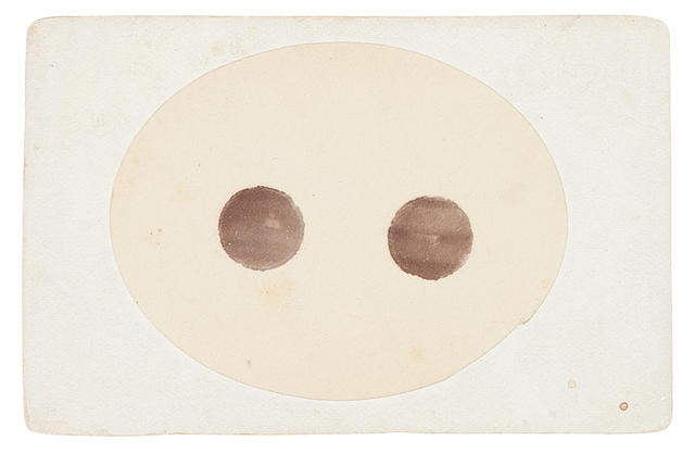 YOUNG, CHARLES AUGUSTUS. 1834-1908. 2 carte-de-visite photographs of solar PROMINENCES, Observatory of Dartmouth College, Hanover, NH, September 28, 1870,