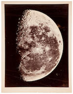 RUTHERFURD, LEWIS MORRIS. 1816-1892. 3 views of the Moon, from New York, c.1865-1870,