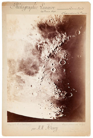 HENRY, M.M.  Albumen print (395 x 290 mm) mounted, captioned above and below in ink,  Paris Observatory, March 29, 1890.