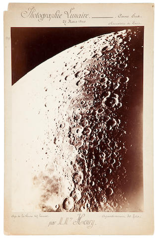 HENRY, PAUL P. AND PROSPER M. The Moon at 167 hours, from the Paris Observatory, March 27, 1890,