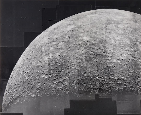 MARINER X. 3 photographs of hand mosaics of Mercury, including 2 of limbs, March 29, 1974-March 16, 1975,