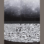 MARINER X.  Hand mosaic of ...,  5 gelatin silver prints (145 x 240 mm) mounted together with gelatin silver print of a hand mosaic of ?spectrograph data (140 x 240 mm).