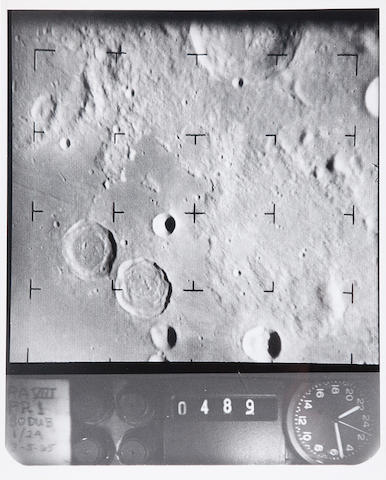 RANGER VIII. Binder containing 82 photographs of details of the lunar surface, February 20, 1965,