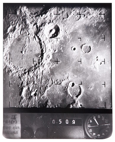 RANGER IX. Binder containing 64 photographs of details of the lunar surface, March 24, 1965,