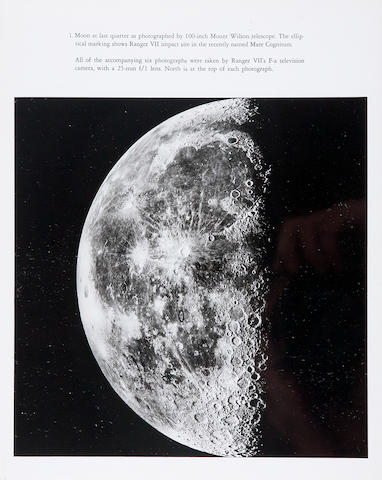 "RANGER VII. Ranger VII Photographs of the Moon. Part I: Camera ""A"" Series. Photographic Edition. [Pasadena, CA]: JPL, August 27, 1964."