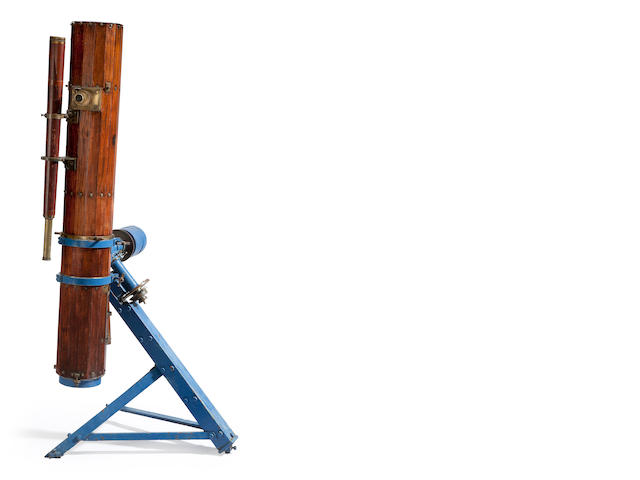 English reflecting telescope, wooden barrel construction
