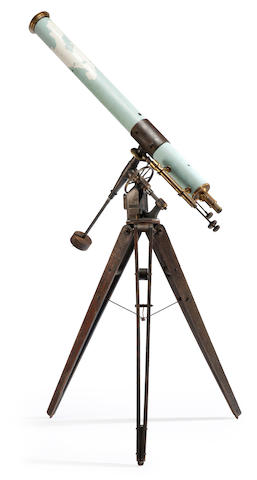 LOHMANN BROTHERS. A rare 5-inch pneumatic-drive refracting telescope, Greenville, OH, c.1918,