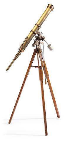 MEYROWITZ, PAUL, retailer. A 4-inch refracting telescope, America, c.1890,