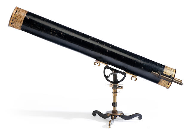PASSEMANT, CLAUDE-SIMEON. 1702-1769. A 6-inch reflecting telescope with speculum metal mirror, France, c.1750,