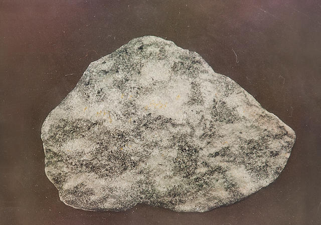 WEIGERT, FRANZ. Bas relief reproduction of moon rock no 15536 obtained during the Apollo 15 mission, manufactured by Franz Weigert, Neuberg, Germany, 1972,