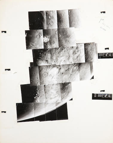 VIKING ORBITER. Hand mosaic of Mars, c.1979,