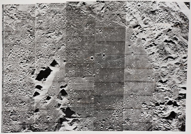 LUNAR ORBITER V. Oversize view of peaks at the center of the crater Copernicus, August 16, 1967,