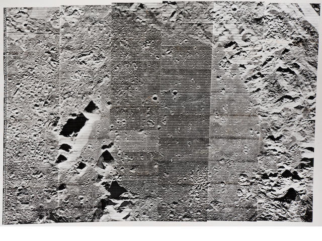 6 panel Lunar Orbiter Mosaic