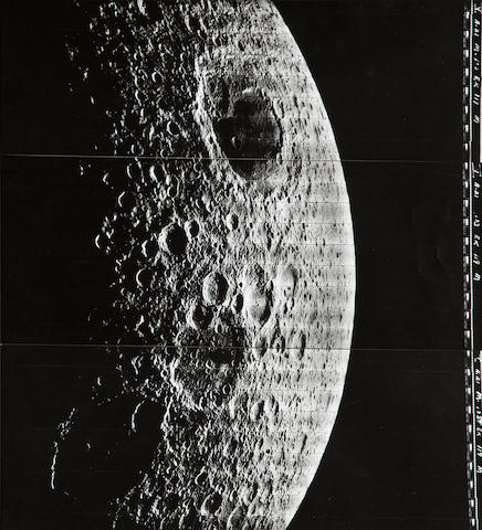 LUNAR ORBITER V. View of the Mare Moscoviense and the crater Campbell, August 14, 1967,