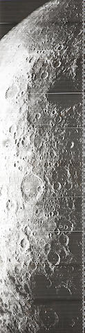 LUNAR ORBITER LO IV H165 9 gelatin silver prints of...