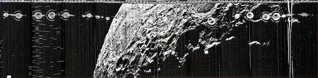 LUNAR ORBITER LO V H21 9 gelatin silver prints of...