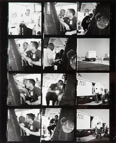 "Taub, William (""Bill"") Large group of photographs and contact sheets of Mercury-era astronauts"