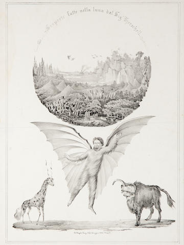 GREAT MOON HOAX. Pair of lithographs