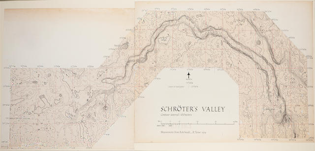 TURNER, RALPH. B.1935. Contour diagram of Schröter's Valley, probably Tucson, AZ, 1974,